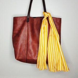 Vintage Echo 100% Silk Gold/Cream Stripe Scarf